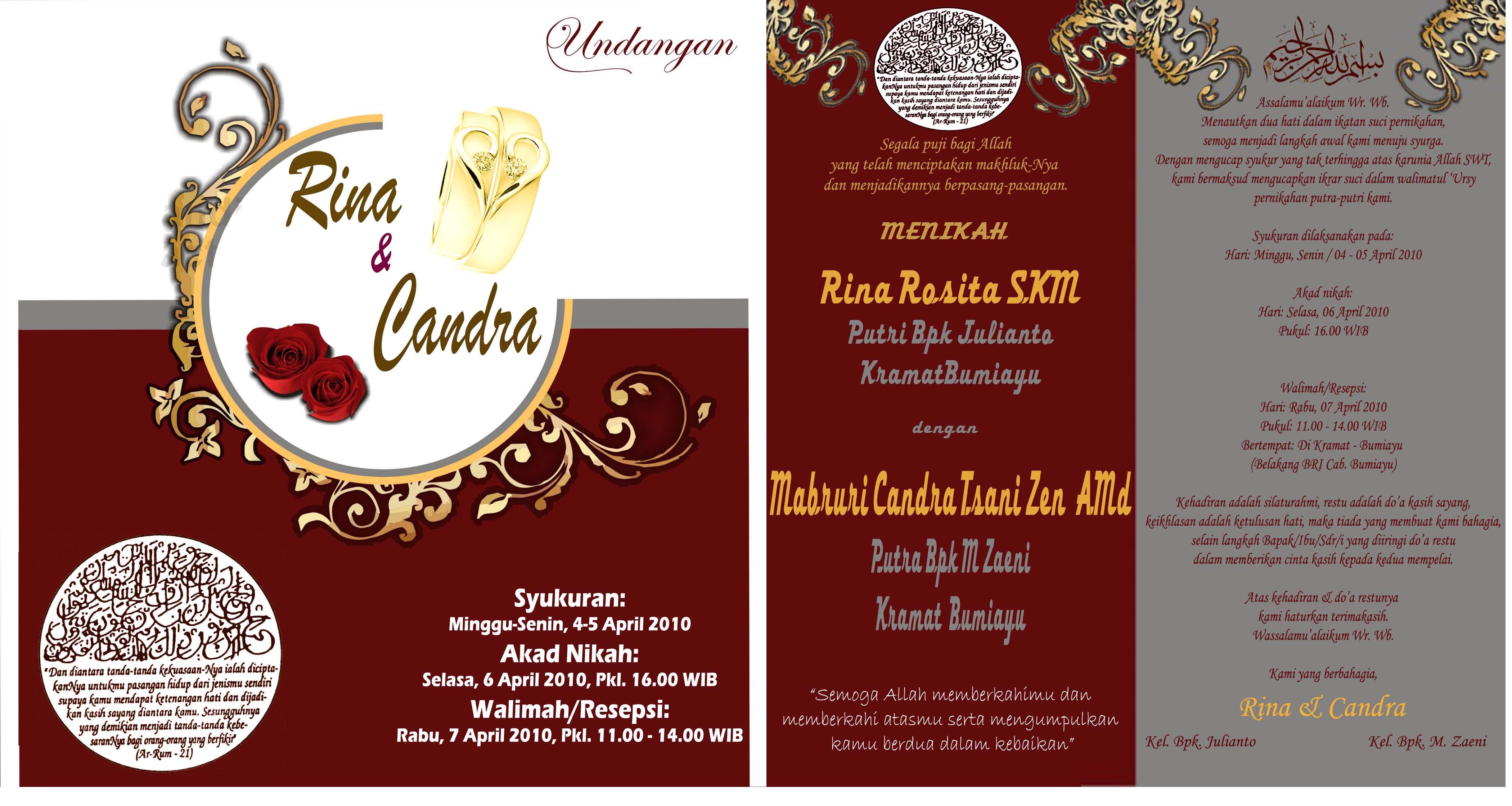 Desain Undangan Rina & Chandra