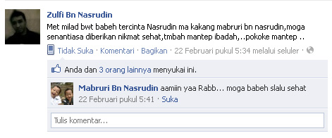 Status fb Zulfi bn Nasrudin, 22-2-2012